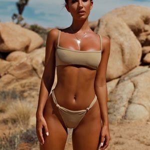 Oh Polly Salute Ribbed Bikini Bottom